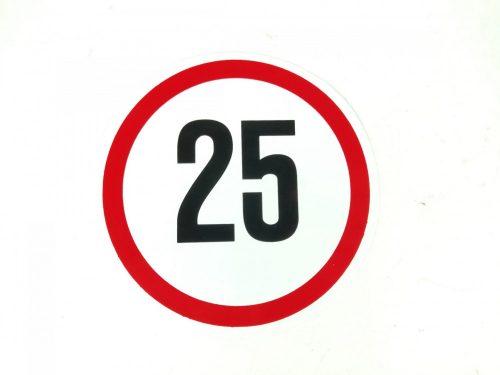 Matrica sebesség korlátozó kicsi 25