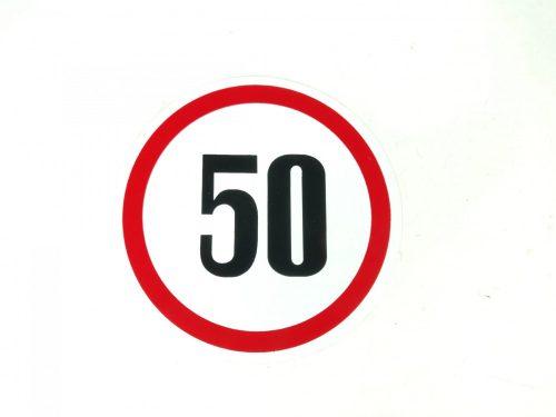 Matrica sebesség korlátozó kicsi 50