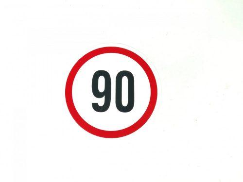 Matrica sebesség korlátozó kicsi 90