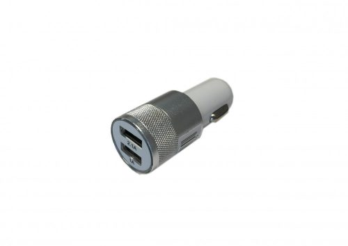 USB töltő 12/24V Dupla ezüst